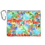 Colorful Mosaic  Canvas Cosmetic Bag (XL) Front