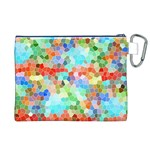 Colorful Mosaic  Canvas Cosmetic Bag (XL) Back