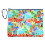 Colorful Mosaic  Canvas Cosmetic Bag (XXL) Front