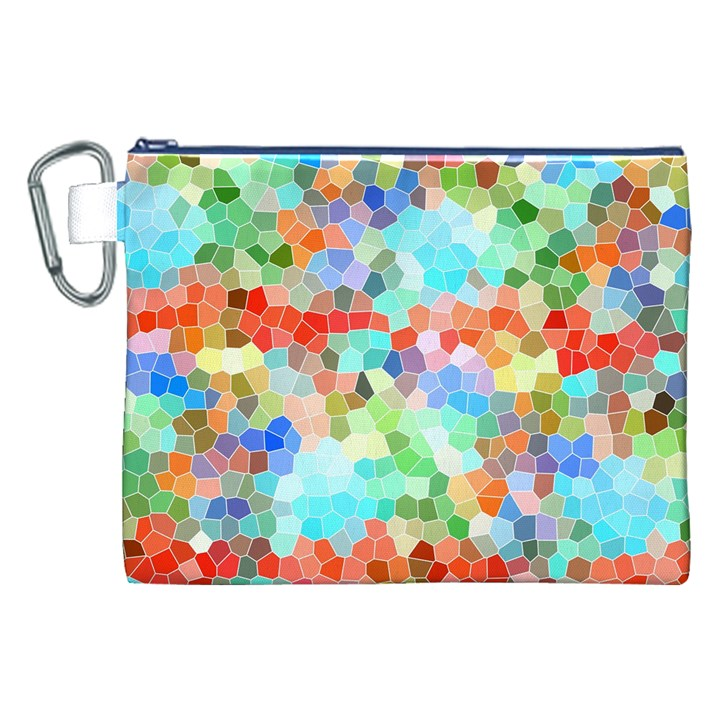 Colorful Mosaic  Canvas Cosmetic Bag (XXL)