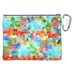 Colorful Mosaic  Canvas Cosmetic Bag (XXL) Back