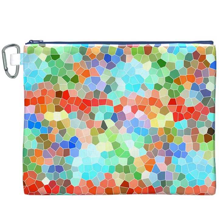 Colorful Mosaic  Canvas Cosmetic Bag (XXXL)
