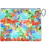 Colorful Mosaic  Canvas Cosmetic Bag (XXXL) Back