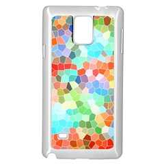 Colorful Mosaic  Samsung Galaxy Note 4 Case (white)
