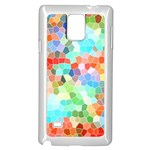 Colorful Mosaic  Samsung Galaxy Note 4 Case (White) Front