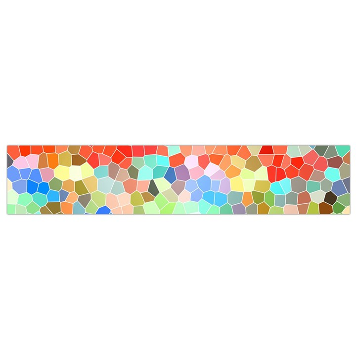 Colorful Mosaic  Flano Scarf (Small)