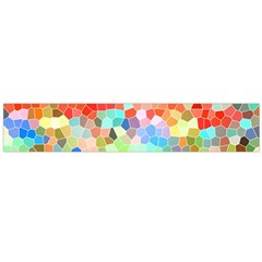 Colorful Mosaic  Flano Scarf (Large)