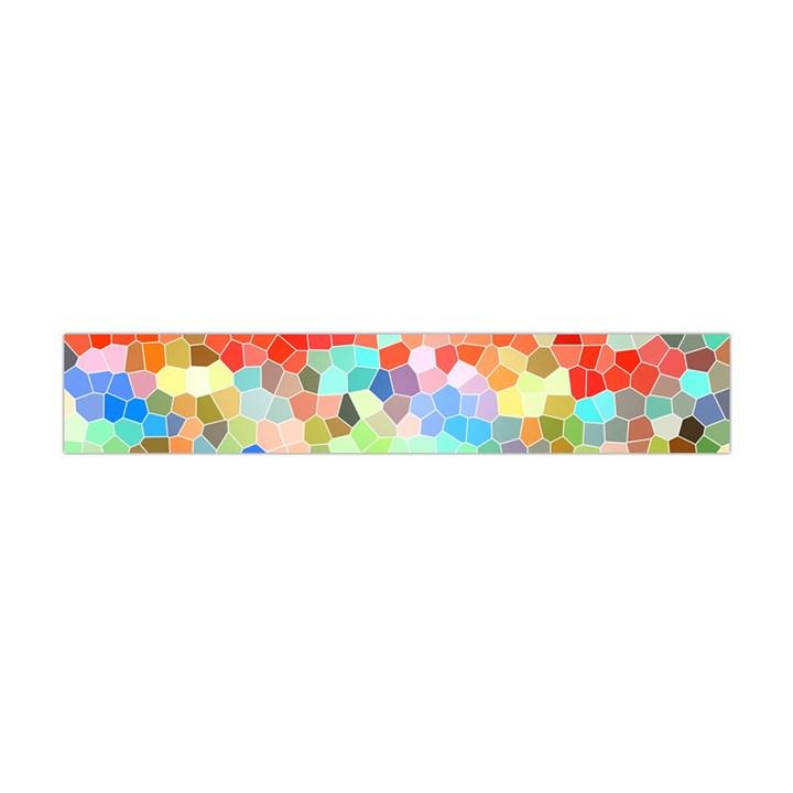 Colorful Mosaic  Flano Scarf (Mini)