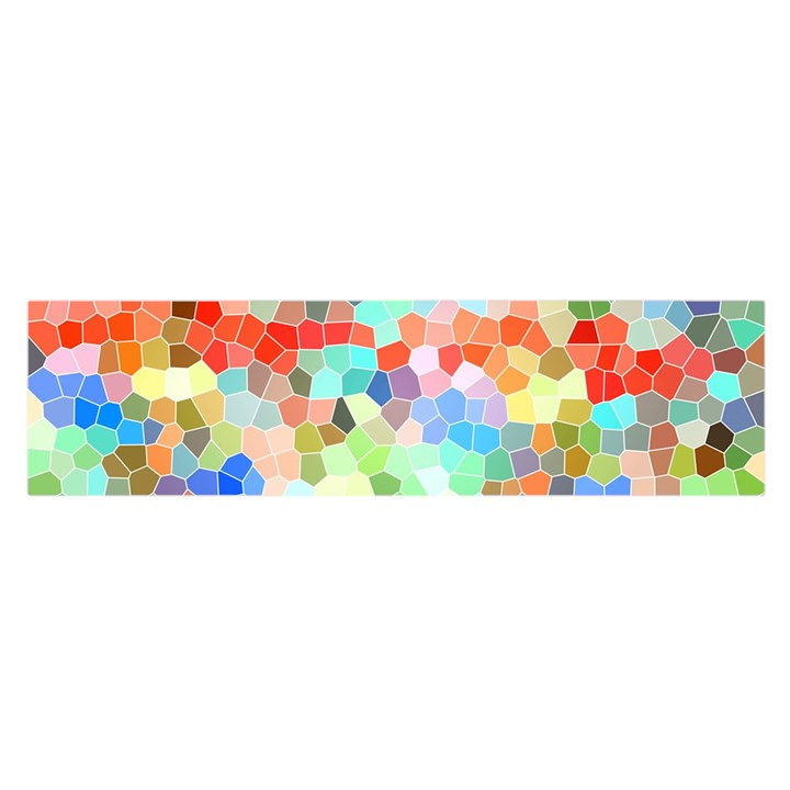 Colorful Mosaic  Satin Scarf (Oblong)