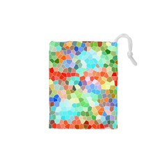 Colorful Mosaic  Drawstring Pouches (XS)