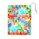 Colorful Mosaic  Drawstring Pouches (Extra Large) Front
