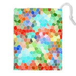 Colorful Mosaic  Drawstring Pouches (XXL) Front
