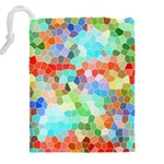 Colorful Mosaic  Drawstring Pouches (XXL) Back