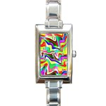 Irritation Colorful Dream Rectangle Italian Charm Watch Front