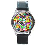Irritation Colorful Dream Round Metal Watch Front