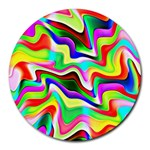 Irritation Colorful Dream Round Mousepads Front