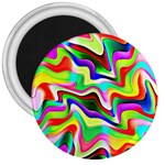 Irritation Colorful Dream 3  Magnets Front