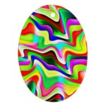 Irritation Colorful Dream Ornament (Oval)  Front