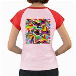 Irritation Colorful Dream Women s Cap Sleeve T-Shirt Back