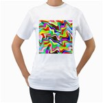Irritation Colorful Dream Women s T-Shirt (White) (Two Sided) Front