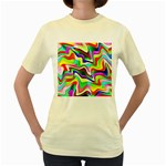Irritation Colorful Dream Women s Yellow T-Shirt Front