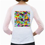 Irritation Colorful Dream Girly Raglans Back