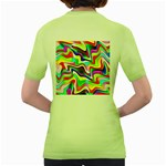 Irritation Colorful Dream Women s Green T-Shirt Back