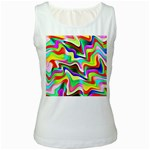 Irritation Colorful Dream Women s White Tank Top Front