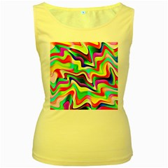 Irritation Colorful Dream Women s Yellow Tank Top