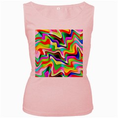 Irritation Colorful Dream Women s Pink Tank Top
