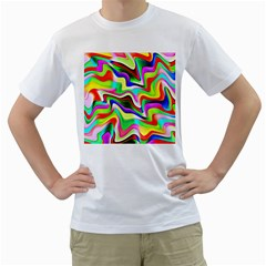 Irritation Colorful Dream Men s T Shirt (white) (two Sided)