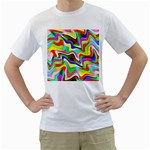Irritation Colorful Dream Men s T-Shirt (White) (Two Sided) Front