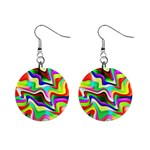 Irritation Colorful Dream Mini Button Earrings Front