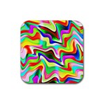Irritation Colorful Dream Rubber Square Coaster (4 pack)  Front