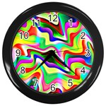 Irritation Colorful Dream Wall Clocks (Black) Front