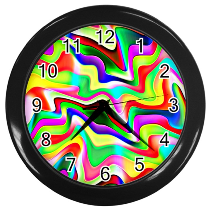 Irritation Colorful Dream Wall Clocks (Black)