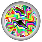 Irritation Colorful Dream Wall Clocks (Silver)  Front
