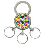Irritation Colorful Dream 3-Ring Key Chains Front