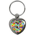 Irritation Colorful Dream Key Chains (Heart)  Front