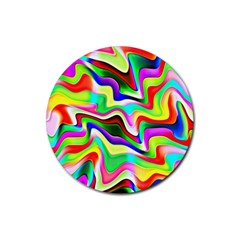 Irritation Colorful Dream Rubber Coaster (round)