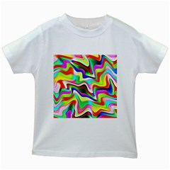 Irritation Colorful Dream Kids White T Shirts