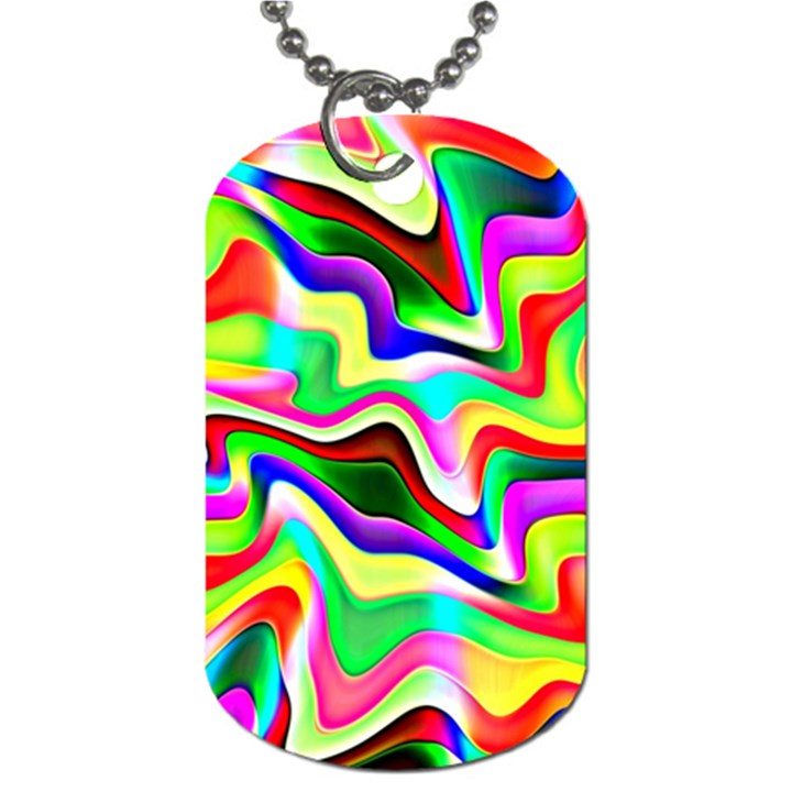 Irritation Colorful Dream Dog Tag (Two Sides)