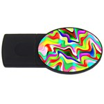 Irritation Colorful Dream USB Flash Drive Oval (1 GB)  Front