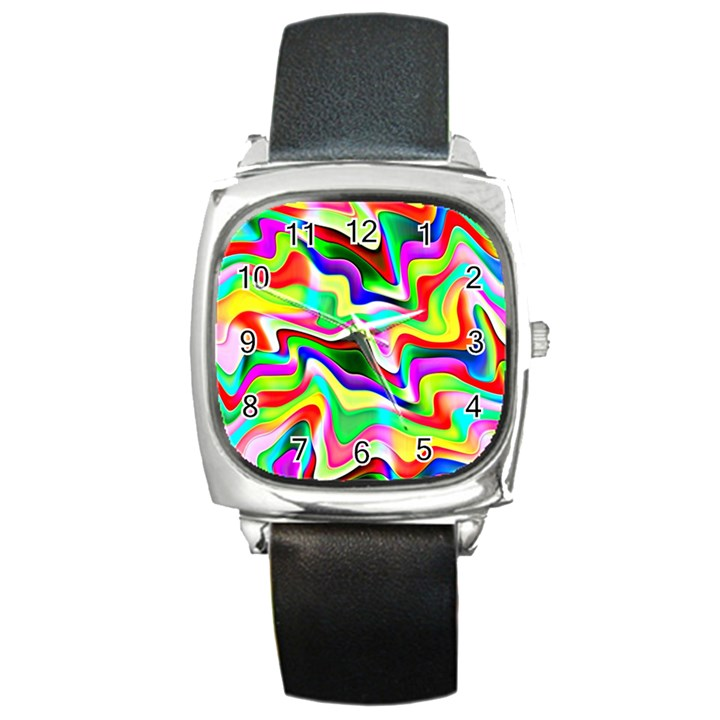 Irritation Colorful Dream Square Metal Watch