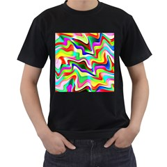 Irritation Colorful Dream Men s T Shirt (black) (two Sided)