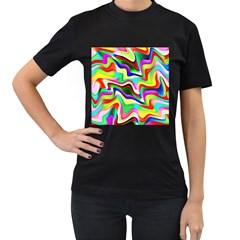 Irritation Colorful Dream Women s T Shirt (black) (two Sided)