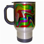 Irritation Colorful Dream Travel Mug (Silver Gray) Left