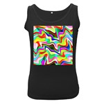 Irritation Colorful Dream Women s Black Tank Top Front
