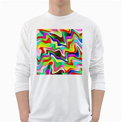 Irritation Colorful Dream White Long Sleeve T Shirts