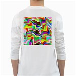 Irritation Colorful Dream White Long Sleeve T-Shirts Back